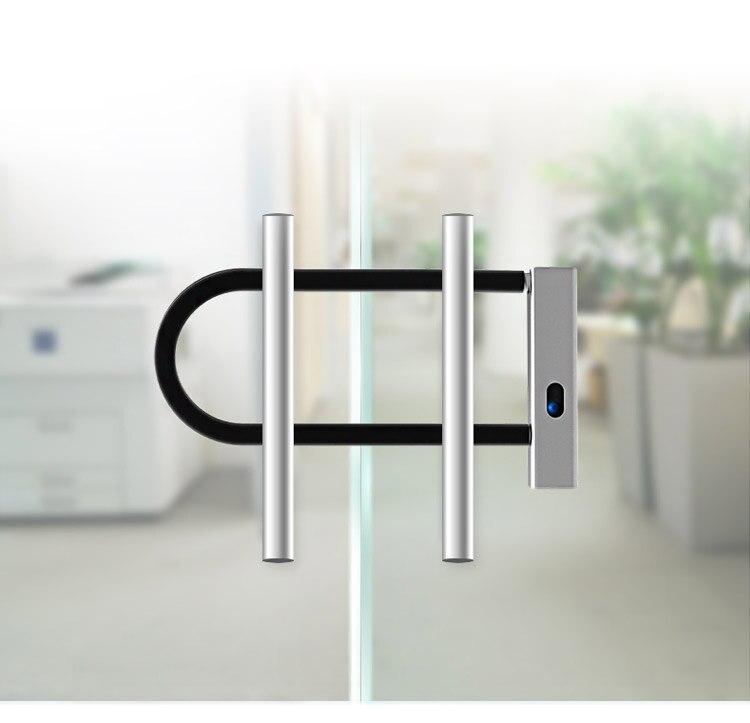 Smart Bluetooth APP Door lock U shape Lock for Store Company Glass Double Door Anti-theft APP Remote Control U-shaped locks (9)