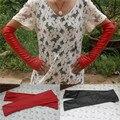 Margarida e Na moda mulheres senhora sólidos de couro sintético luvas de cotovelo 031