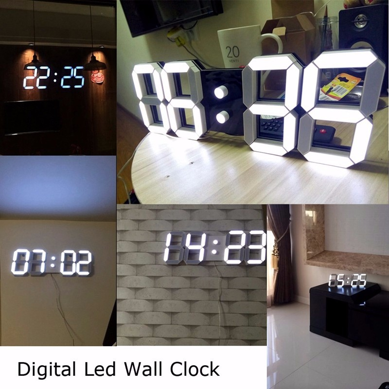 Promotion! Large Led Wall Clock Home Design Show Time Temperature On The Wall In The Living Room Digital Clock for Home Decor (17)