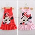 2 - 6 anos meninas de verão, Crianças, Bonito dos desenhos animados Minnie Mouse impresso vestido de algodão 1409251712