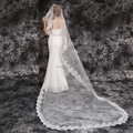 Wedding Veils New End Custom 2017 Free Shipping White Ivory Bride Bridesmaid Lace Dress Accessories Wedding Veil Veu De Noiva