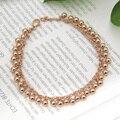 Mais recente Moda Jóias Exquisite Rose Banhado A Ouro Pulseira de Miçangas Para As Mulheres Preço Surpresa