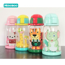 Medoboo 600ML Baby Water Bottle PP PC Cup Cute Cartoon Babies Drinkbeker Children Silicone Straw Training Pvc Free 20
