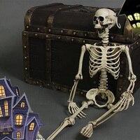 Halloween Skull For Bar Cosplay 36inch 90cm Halloween Skeleton 100 Plastic Children Size Skeleton For Halloween