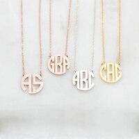 Персонализированные матери Подарок серебряная монограмма имя ожерелье Женщины именной браслет под заказ ювелирные изделия бижутерия из н...