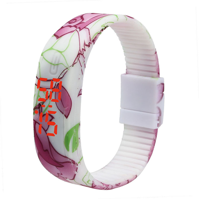 Zerotime 501 FASHION Wristwatch Simple Thin Women Girls Sports Silicone Digital LED Bracelet Wrist Watch Luxury