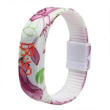 Tempo zero #501 MODA Relógio De Pulso Simples Fina Mulheres Meninas Sports Pulseira de Silicone Digital LED Relógio de Pulso de Luxo Frete Grátis