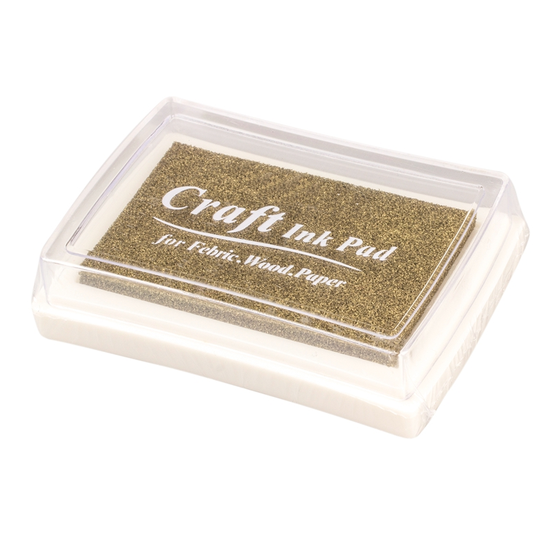 Rubber Stamp Ink Pad Stamp Inkpad Ink Pad - Gold