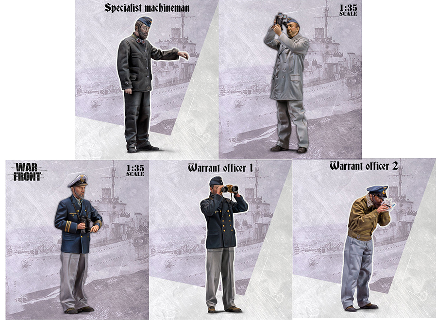 1/35 Uncolor OFFICER INCLUDE 5 SOLDIERS    Toy Resin Model Miniature Resin Figure Unassembly Unpainted
