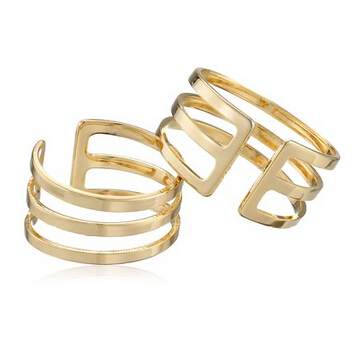 Kinitial 1PCS Gold Silver Three Line Midi Knuckle Ring Accent 3 Three Row Line Over The Midi Tip Finger Above The Knuckle Ring