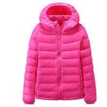 2016 children coat girl outerwear girls duck jacket kid warm kids down parka hoodie winter jacket for girls Free shipping
