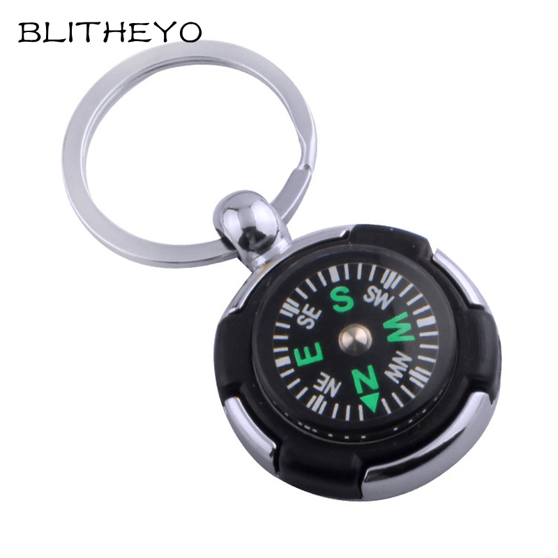 BLITHEYO Key Chain Mini Compass Outdoor Camping Hiking Finding Way Hiker Navigator Utility Gear Survival Keychain Compass Tool