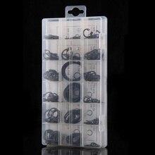 Alta Calidad 225 Unids/set Circlip Anillo Elástico Negro Surtido Set Con Caja de Metal