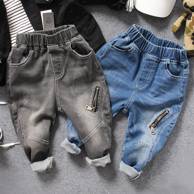 77b04d6875f only jeans 1pc new 2017 autumn boys fashion zipper denim pant kids jeans  boys jeans children trousers boys denim casual pant