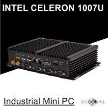 Mini pc industriel sans ventilateur, avec USB 3.0, double Lan Gigabit, 4 com, HDMI, Intel Celeron C1007U, Windows 10/Linux, moins cher