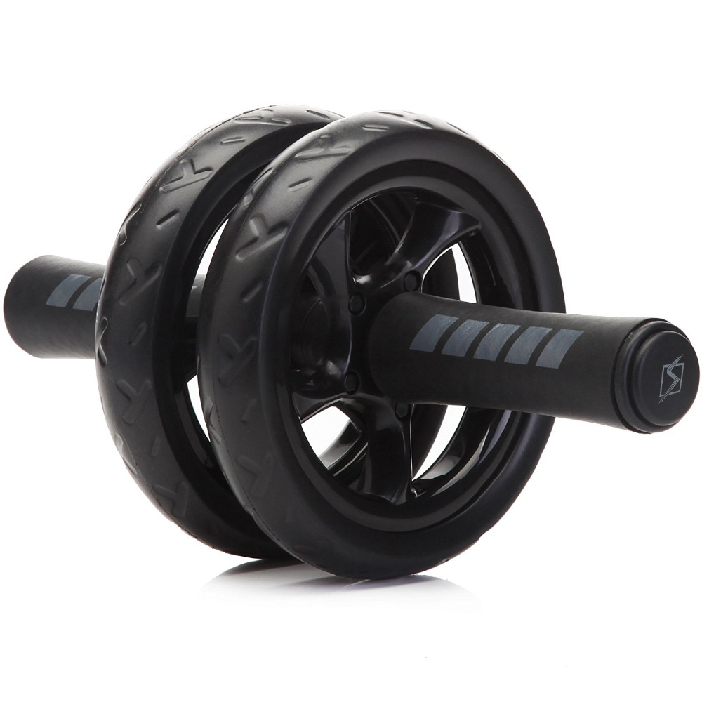 New Keep Fit Wheels No Noise Abdominal Wheel Ab Roller With Mat For Exercise Fitness Equipment