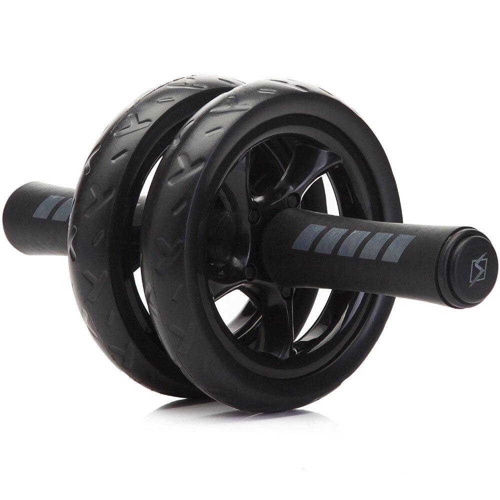 Nuevo en forma ruedas ruido Abdominal rueda rodillo Ab con Mat para hacer ejercicio de equipos de Fitness