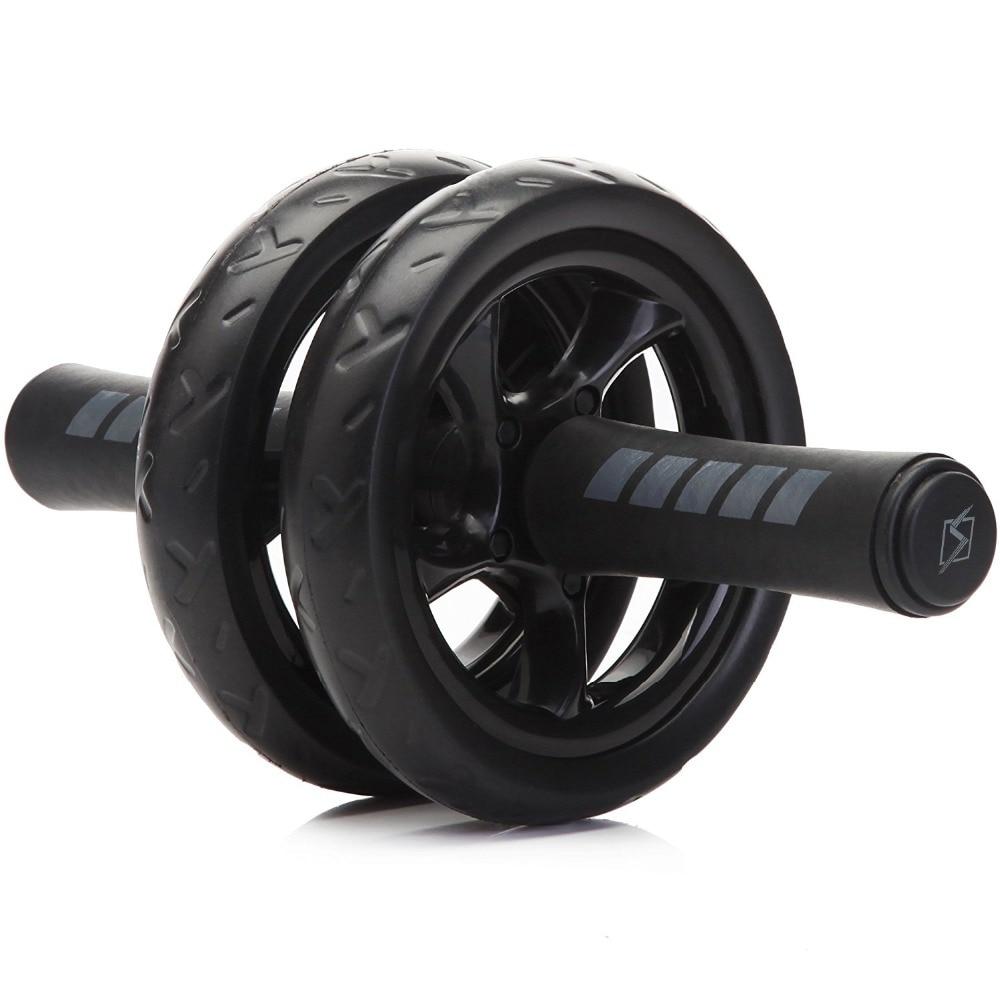 Nuovo Mantenersi in forma Ruote No Noise Addominale Wheel Ab Roller Con Passepartout Esercizio Attrezzature Fitness
