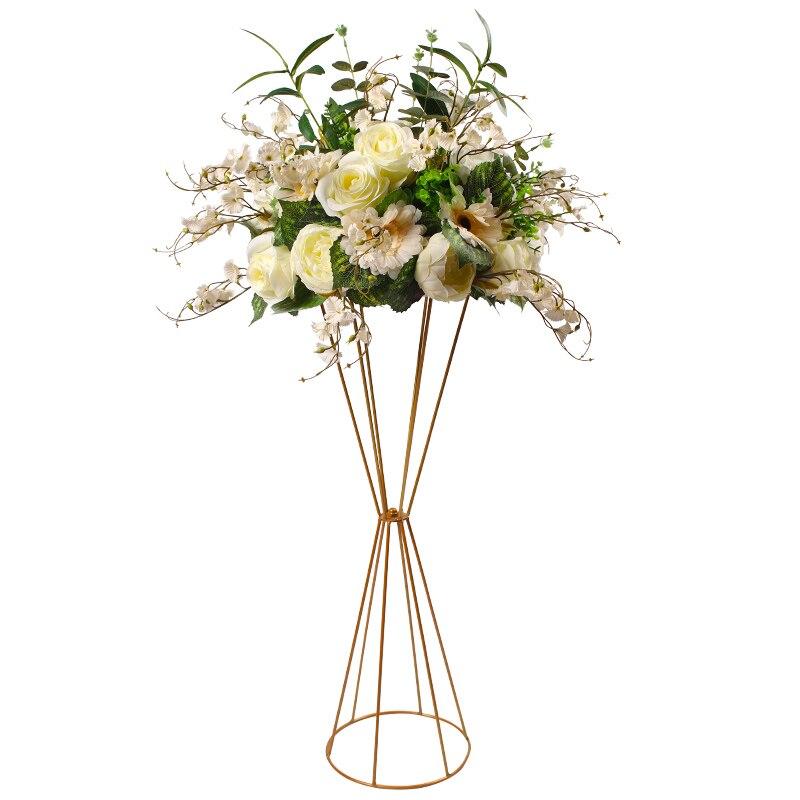 10Pcs/Lot Flower Vases Floor Metal Vase Plant Dried Floral Holder Flower Pot Road Lead for Home/Wedding Corridor Decoration G101