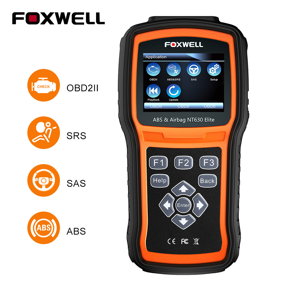 FOXWELL NT630 Elite OBD2 Automotive Scanner ABS SAS Airbag Crash Data Reset ODB2 Car Diagnostic Tool Machine OBD 2 Auto Scanner-in Code Readers & Scan Tools from Automobiles & Motorcycles on