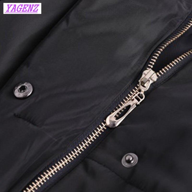 Extra Capuchon Coton Pardessus 9xl Col Fourrure Long Mince Hiver Noir B448 Black Vers À Bas Large Veste Chaud De Femmes Le Taille Survêtement r6Hrw0