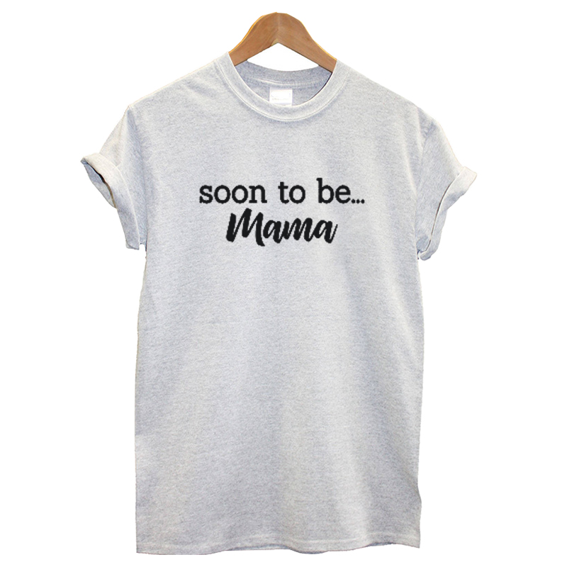 ee06ffbb EnjoytheSpirit Women T Shirt Soon To Be Mama Future Mom Mother T-shirt  Pregnancy Announcement Baby Shower Gift Tee