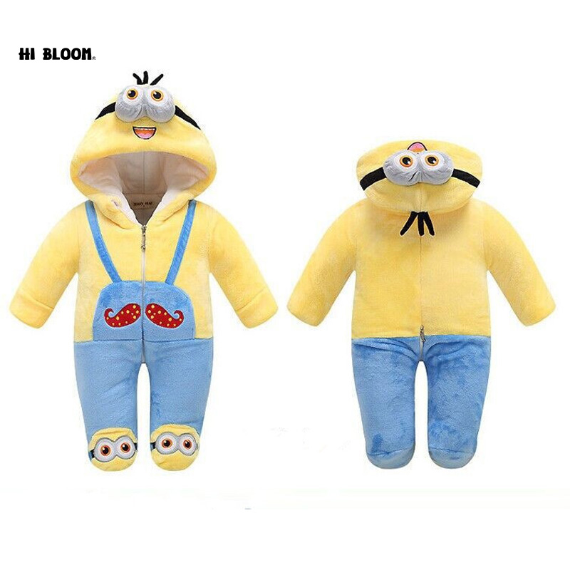 Brand 7 Styles Lovely Gift Baby Animal Cartoon Rompers Newborn Baby Warm Costume Soft Winter Flannel Kid Infant Jumpsuit Pajamas aibeile 2017 new 3 colors bear elephant flannel baby blanket newborn soft cartoon blankets 100 100cm for beds thick warm kids