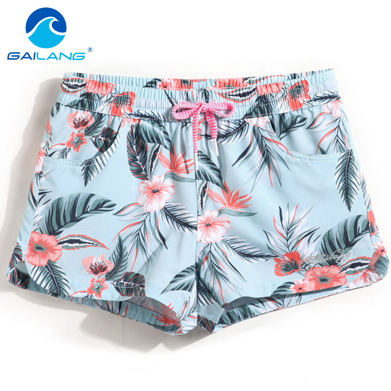 Gailang Brand Women Casual   Shorts   Quick Drying Swimwear Swimsuits Woman   Shorts   Bottom Plus Size XL Boardshort Bermuda Masculina