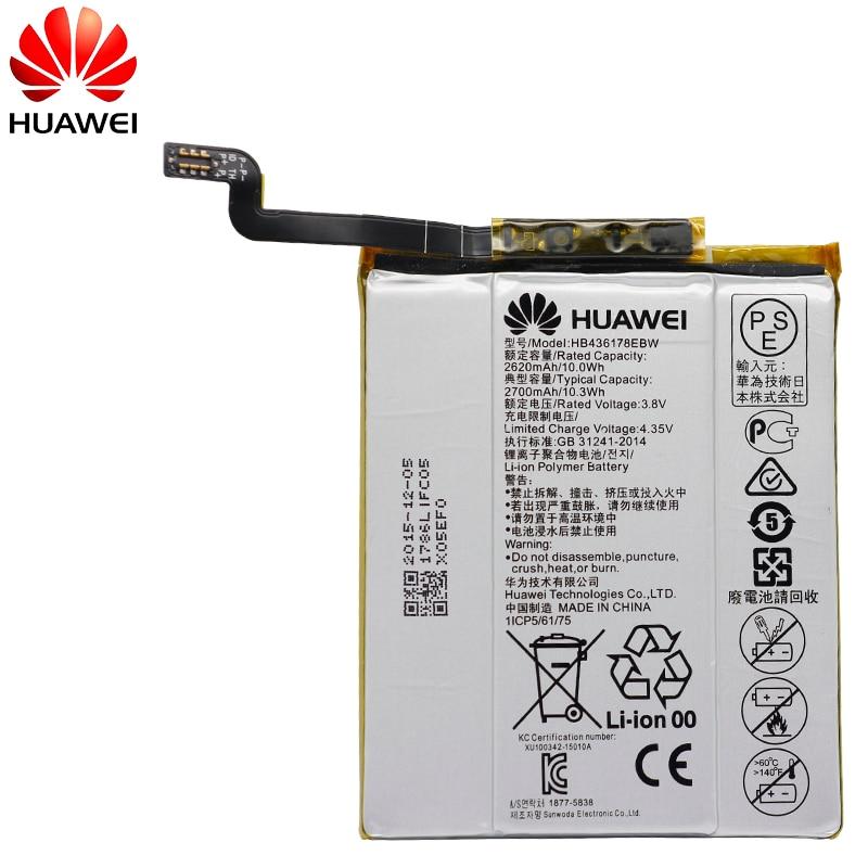 Hua Wei Original Phone Battery HB436178EBW For Huawei Mate S CRR CL00 UL00 2700mah Replacement Phone Batteries Free Tools