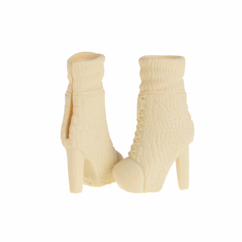 Long Boots Casual High Heels Cute Shoes Clothes For  Doll Dress Accessor TEES LL