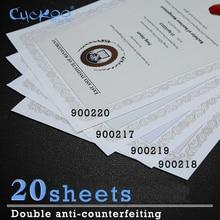20 листов анти-подделка водяных знаков и флуоресценции под ультрафиолетовым облучением A4 бумага для печати Ретро плотная бумага