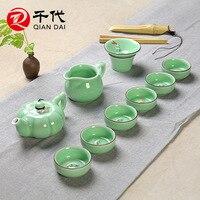 Authentic Japanese Tea Ceremony Tea Products Celadon Color Carp Tea Cup 10pcs Lot Free Shipping Characteristic