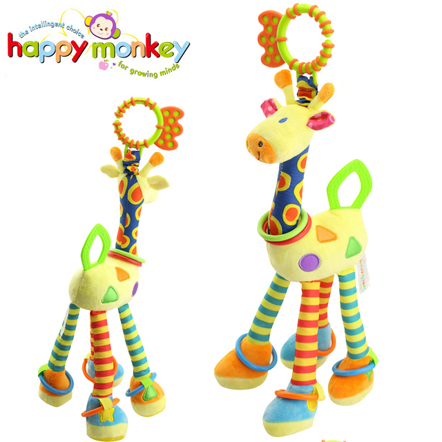 Hanging Bed Bell Baby Plush Rattles