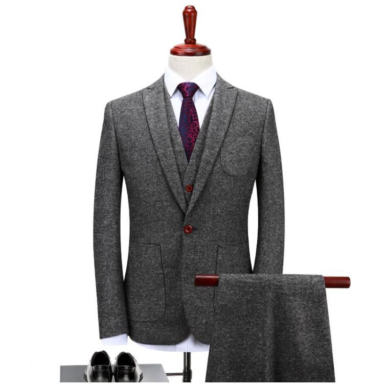 2019 Men Wedding Suits Casual Male Blazer Suit Men's Business Terno Masculino Slim Fit Men Suits For Wedding 3 Pieces Set