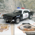(5pcs/pack) Wholesale 1/37 Scale Car Model Toys Police Edition 1967 Chevrolet Camaro Z-28 Diecast Metal Pull Back Car Toy