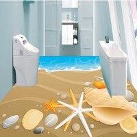 Free Shipping HD Beach 3D Floor Stereo Non Slip Moisture Proof Living Room Bedroom Mural High