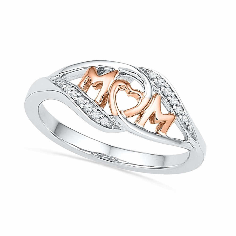 OTOKY 2018 Hot Sale Mum Silver Ring Two Tone Rose Gold Jewelry Best Gift  For Mother Dropshipping May10CJ