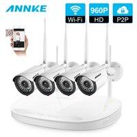 ANNKE 4CH CCTV Системы Беспроводной 1080 P NVR 4 шт. 960 P открытый Smart ИК P2P Wi Fi ip видеонаблюдения безопасности Cam Системы комплект видеонаблюдения