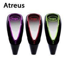 Atreus 5/6 geschwindigkeit Schaltknauf Touch Sensor LED-Licht verfärben logo für Toyota Lexus Honda Nissan Benz Mazda Hyundai Ford Kia