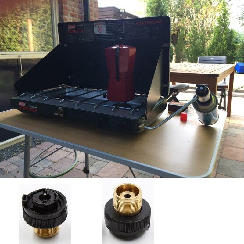 Adaptador De Recarga De Gás Propano 1LB Pequena Saída Da Válvula de Entrada Do Tanque de Gás de Acampamento ao ar livre Fogão Converter Adaptador GPL Cilindro de Gás Canister