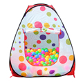 Portable Cute Hexagon Colorful Polka Dot Kids Playpen Ball Pit Indoor and Outdoor Easy Folding Play Tent House with Tote Bag