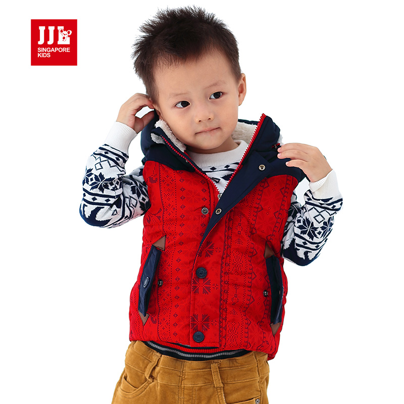 baby waistcoat detachable hooded national printing vest outerwear 2015 brand designer winter jacket hooded waistcoat