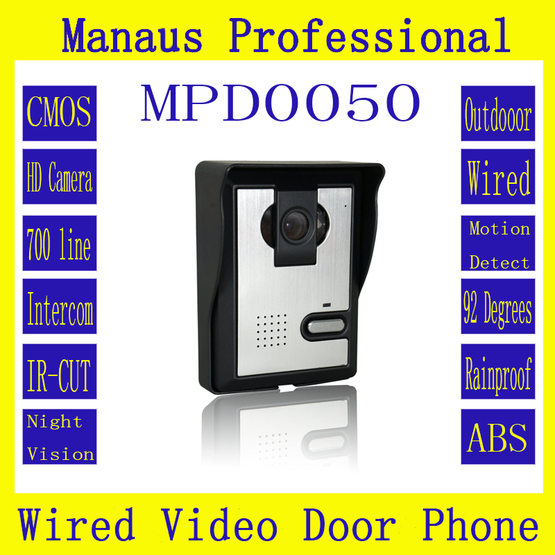 Professional Smart Home Wired Magnetic Lock Waterproof Video door phone,Outdoor Monitor Intercom Doorbell with HD Ir camera D50a the latest wifi magnetic lock ip65 rainproof video door phone outdoor monitor intercom atz dbv04p doorbell with 720p ip camera