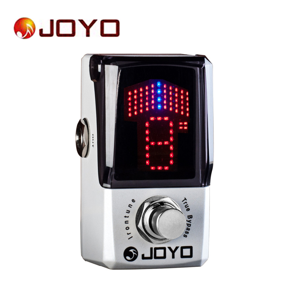 Joyo IRONMAN JF-326 Irontune Tuner Mini Electric Guitar Effect Pedal Box Guitar Accessories with Knob Guard True Bypass joyo ironman jf 326 irontune tuner guitar effect pedal true bypass jf 326