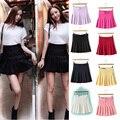 2017 korean harajuku style suit half-length skirt  waist skirt lovely pleated student AA skirt culottes skirts women