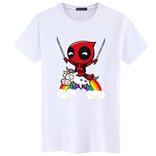 SWENEARO verano nuevo Deadpool hombres camiseta divertida Tops Superman adorable camiseta Homme Hip Hop camiseta ropa para marvel ventiladores camisa