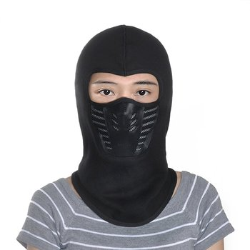 Outdoor Riding Skiing Face Mask Cover Ninja Style Head Cap Warm Thickening Fleece Mask With Filtering Function Drop Shipping face mask