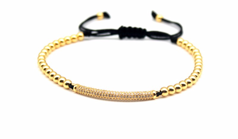 Top Fashion Cubic Zirconia Charm Men's Bracelets Famous Boys Micro Pave Trendy Braiding Strand Black Macrame Beads Bracelets. 3