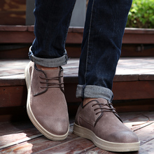 Rommedal genuine cow suede leather skate shoes men work safety toe fashion flat lace-up slip-on male casual shoes high quality