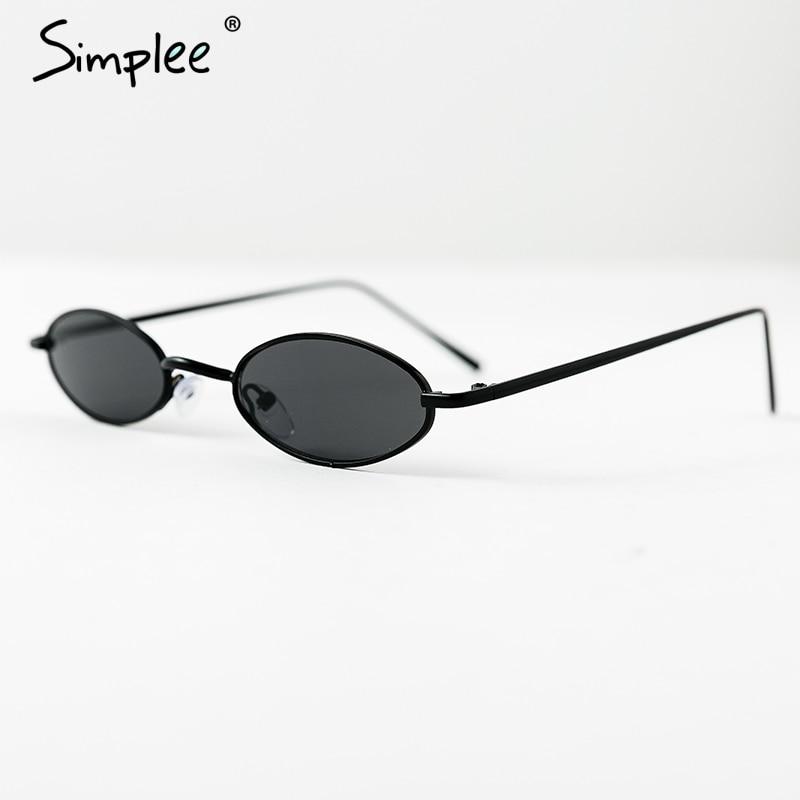 fb009067ca Simplee Vintage small oval sunglasses Skinny frame elegant sunglasses women  holiday sun glasses 2018